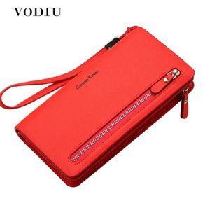 Wholesale 1female Wallets Fashion Woman Purses Handbag Nice Brand Women Red Pink Long Wallet Bag Female Coin Purse Single Zipper Clutch Bag