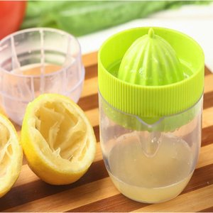 Wholesale hand lemon squeezer for sale - Group buy Lemon Juicer Orange Juicer Squeezers Hand Band Scale Cup Creative Mini Multifunction Kitchen Fruit Vegetable Tools YYA56