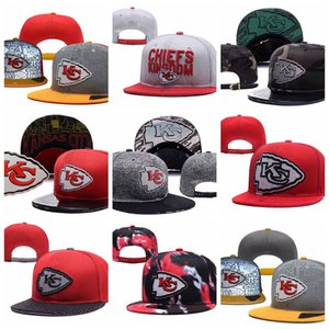 Wholesale New style Kansas Adjustable Hats City Chiefs Embroidery Team Wholeasle Knit Beanies Caps Hip Pop caps One Sizes