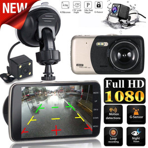 Wholesale 4 LCD IPS Dual Lens Dash Cam FHD P Dashboard Camera Driving DVR Support loop recording camera Ordinary