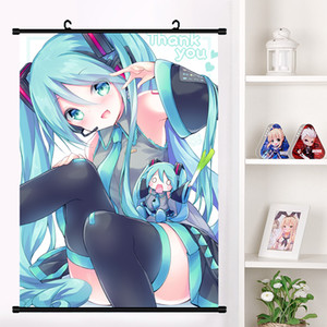 Wholesale Anime VOCALOID Hatsune Miku Cosplay Wall Scroll Mural Poster Wall Hanging Poster Home Decor Art Collection