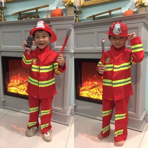 Fireman Sam Kids Halloween Christmas Cosplay Costumes For Girls Boy Carnival Party Fancy Suit Kids Firefighter Uniform Game Wear
