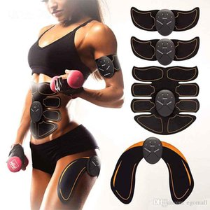 NEW Arrival Electric EMS Muscle Stimulator abs Abdominal Muscle Toner Body Fitness Shaping Massage Patch Siliming Trainer Exerciser Unisex on Sale