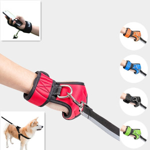 Hands Free Walking Dog Leash Glove Premium Durable Pet Rope Nylon Lead Small Large Dogs Harness Collar Traction Vest Accessories