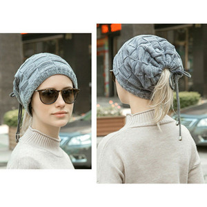 Wholesale Fashion New Trendy Mens Ladies Knitted Woolly Winter Oversized Slouch Beanie Hat Unisex one pieces