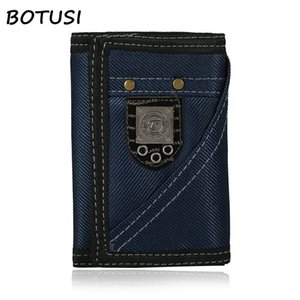 Wholesale BOTUSI Cowboy Vintage Key Ring Coin Bag Men Wallets Short Male Clutch Leather Wallet Men Money Dollar Card Holder Purses for