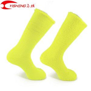 Wholesale YISHENG Merino Wool Socks for Men Women Warm High Quality Thickfor Working in Outdoor Stripe Fashion Sock