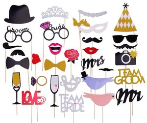Wholesale Fun Bachelorette Party Photo Booth Props Team Bride Props Bridal Shower Bride To Be Hen Party Supplies Wedding Decoration Boda Q