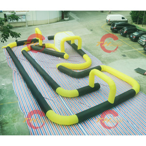 Wholesale go karts resale online - inflatable race track inflatable go karts race track inflatable bumper cars racing track