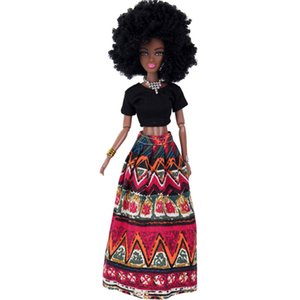Wholesale Baby Dolls For Girls Baby Movable Joint African Doll Toy Black Doll Best Gift Toy Hot sale free