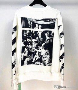 2020SS Spring Autumn Off Angel wings sweater Hoodies Hip Hop Black White Long Sleeve Hooded Hoody Mens Hoodies street Sweatshirts VCTVFWE4