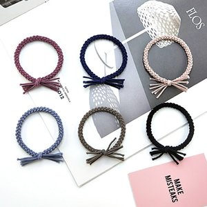 Wholesale tassel headbands for women for sale - Group buy Cute Solid Tassel hairbands hair accessories Women headband Elastic Bands For Girls Hair Ring Scrunchy Band Kids Ornaments JJ171