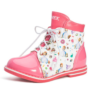 Wholesale Kids Shoes For Girl Boys Children Leather Girls Fashion Boots Autumn Winter Kids Ankle Rubber Shoes For Cartoon Martin