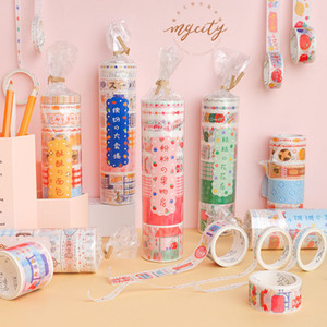 Wholesale 10 set DIY Japanese Paper Today s business series Decorative Adhesive Tape Cartoon Washi Tape Masking Tape Stickers