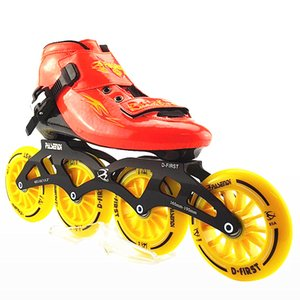 Wholesale Professional Adults Skate Roller Skates Braking Free Skating Single Inline Patins Outdoor Sports Wheels Roller Shoes