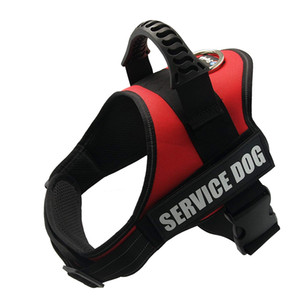 Service Dog Vest for Service Dog - Adjustable Nylon with Removable Reflective Patches for Emotional Support Dogs Large Medium Small Si