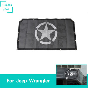 Wholesale Sunshade The New Front Door Insulation Net Pentagram Logo Black Decoration Fit Jeep Wrangler JL From Auto Exterior Accessories