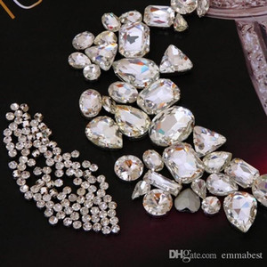 White Artificial Crystal Rhinestone, Large*30+Small*100 Package on Sale