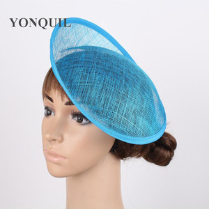 Wholesale Turquoise quot CM Sinamay Fascinators Bases Millinery Fascinator Hat Base Craft Making Material derby party headwear