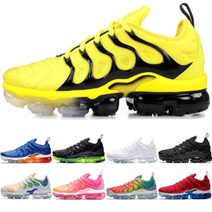 Wholesale Discount Plus Men Women Running shoes Bumblebee Black Volt Hyper Blue Violet Multi Color Mens Designer Trainer Sports Sneakers Size