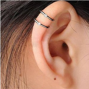 Wholesale 1 Pc Stainless Steel Double and Triple Hoop Ear Tragus Cartilage Clip On Earring Jewelry High Quality