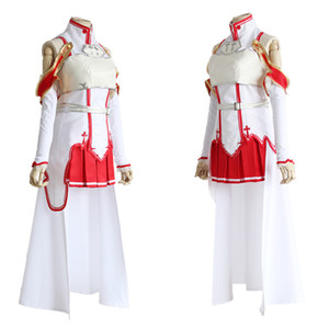 Wholesale SAO Sword Art Online Yuuki Asuna Cosplay Fighting Suit Costume Halloween Party Dress Wear Outfit
