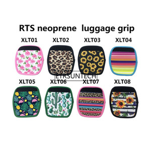 Wholesale 8 Styles Sunflower Leopard Neoprene suitcase handbag Cover RTS Neoprene luggage girp Wedding Party Favor gift Factory LX2214