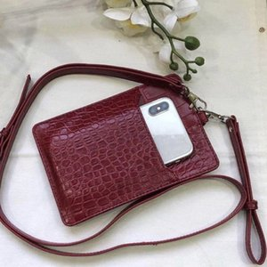 Tophigh Genuine Holder Men Women Cow Leather With Crocodile Pattern Free Custom Name Id Credit Card Wallet J190628 on Sale