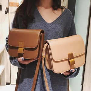 European Retro Fashion Ladies Square bag 2018 New Quality PU Leather Women's Handbag Simple Leisure Lock Shoulder Messenger Bags on Sale