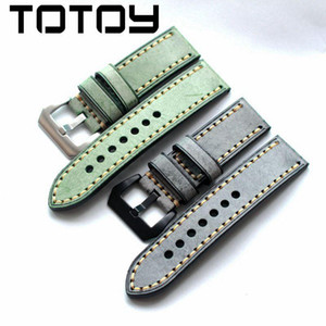 Wholesale TOTOY Hand Wiping Wax Vintage COW Strap Italy FN MM MM MM For Leather Watchbands Fast Delivery