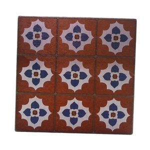 Wholesale living room furniture pieces for sale - Group buy 2 Pieces Dolls House Wine Red Floor Tiles Living Room Furniture