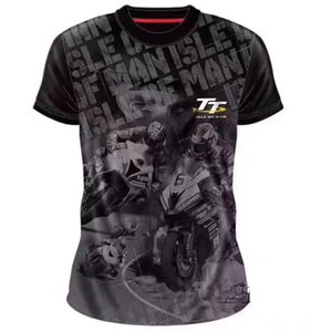 New TT Race Isle Of Mens Youth Black hi-vis T-shirts Racewear Shocker Dirt Bike Jerseys Tt Mx Atv Motocross Tee Shirts U