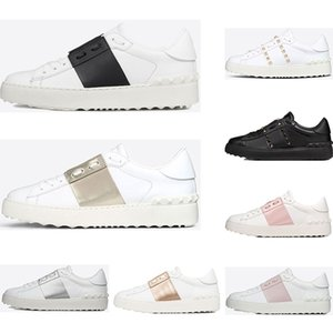 Wholesale 2019 New arrivel Designer Shoes White Fashion Mens Women Leather Casual Open Low sports Sneakers Size