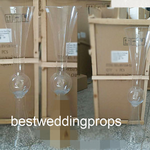 Wholesale wedding glass candelabra for sale - Group buy New style Wedding Centerpiece Crystal Glass Tubes Candle Holder Crystal Candelabra best01190