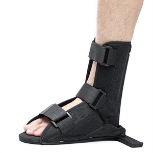 Wholesale SGODDE Black Soft Splint Boot Brace Ankle Support For Tendinitis Plantar Fasciitis Heel Spurs Fixed Orthotics Nursing Care