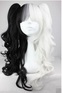 Wholesale Black and White Pigtails Pony Tails Adult Wig