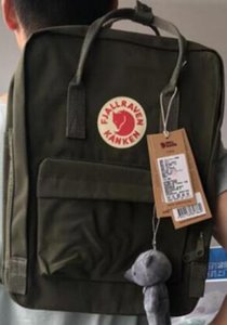 Wholesale High Grade Fjallraven Canvas Children Bags Classic Army Green School Bags Waterproof Bags Outlet