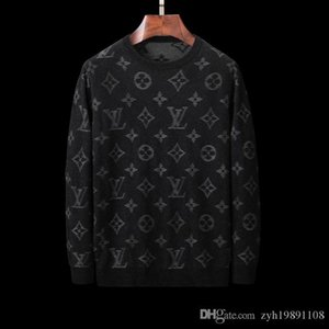 Wholesale Luxury men s sweater fashion long sleeved monogram printed lovers sweater autumn loose fitting pullover sweater m XL