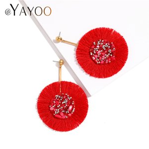 Wholesale Red Tassel Earrings for Women Vintage Fringe Earings Fashion Jewelry Party Gifts Wedding Summer Drop Earrings Hanging Brincos