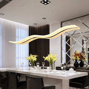 Wholesale acrylic ceiling pendant for sale - Group buy Creative pendant lights Led modern Coffe bar Acrylic Metal suspension hanging ceiling lamp for dinning room drop lights lamp