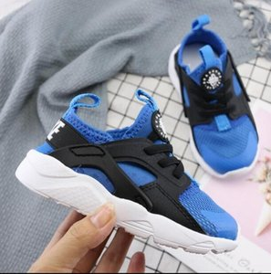 2019 Air Huarache Ultra Running Shoes For kids Black White Air Huaraches Huraches Sports Sneakers size22-35 on Sale