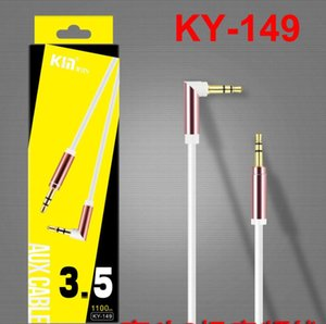 Wholesale 3.5mm Car Aux Audio Cable Jack Male to Male HIFI Universal Stereo Audio Cable with 90 Degree Angle Audio Line