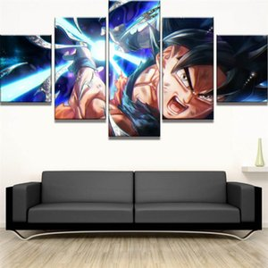 dragões dos desenhos animados venda por atacado-Dos desenhos animados Dragon Ball Z Goku Pintura Pieces HD Canvas Printing New Home Decoração Arte Unframed Framed