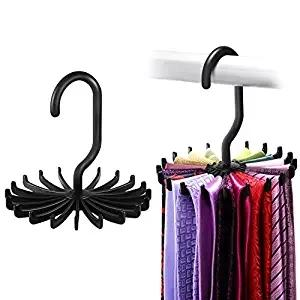 Updated Twirl Tie Rack Belt Hanger Holder Hook for Closet Organizer Storage
