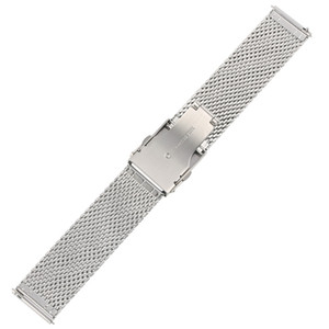 Wholesale 20 MM Casual Stainless Steel Mesh Watch Band Replacement Watches Band Classic Folding Clasp with Safety Wristwatch Strap