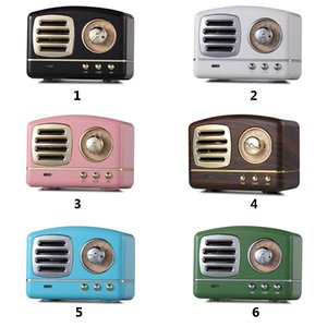 Wholesale Classic Retro Vintage Wireless Bluetooth Speakers Innovative Radio Portable Mini Speaker Stereo Deep Bass FM U disk TF Handsfree Subwoofer