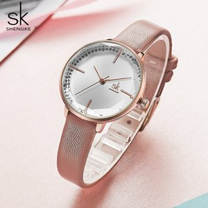 Wholesale gifts new moms for sale - Group buy Shengke Women Fashion Girl Quartz Watch Lady Leather Strap High Quality Casual Waterproof Wristwatch Gift for Wife Mom