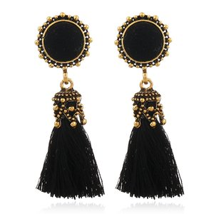 Wholesale X P Small Tassel Earrings for Women Fashion Jewelry Vintage Velvet Ball Statement Fringed Tiny Drop Earring Female Jewellery
