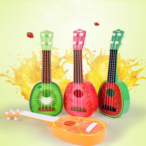 Wholesale Can play simulation ukulele mini fruit guitar toy Child early education music toy instrument adjustable string button