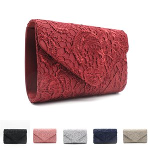 Wholesale Women Evening Party Bag Purse Wallets Women Clutch Handbag Lace Hollow Out Envelope Clutch Bag Party Wedding